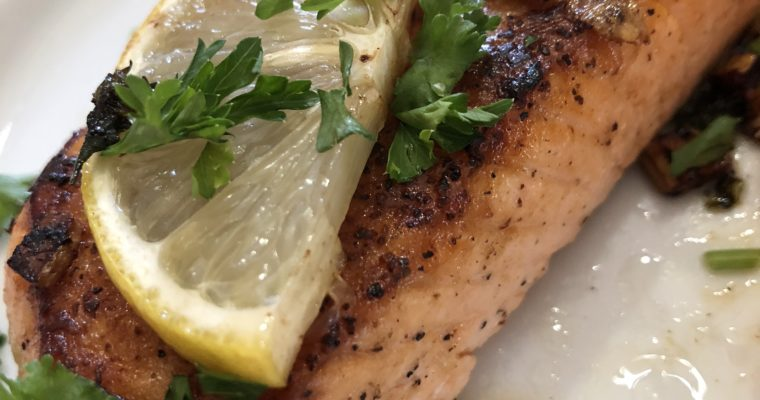 Garlic and Herb Seared Salmon